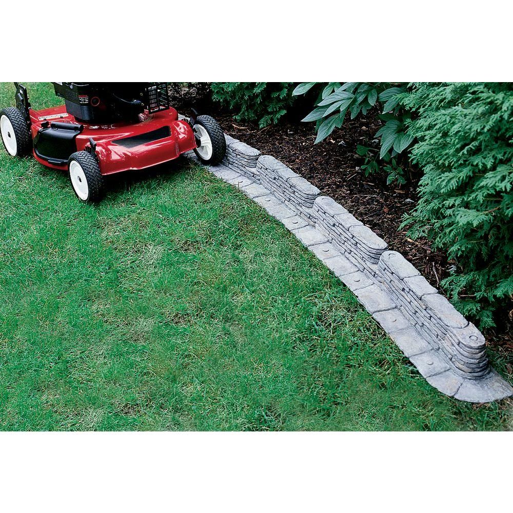 Emsco 20 Ft Bedrocks Trimfree Resin Slate Lawn Edging 400 x 300