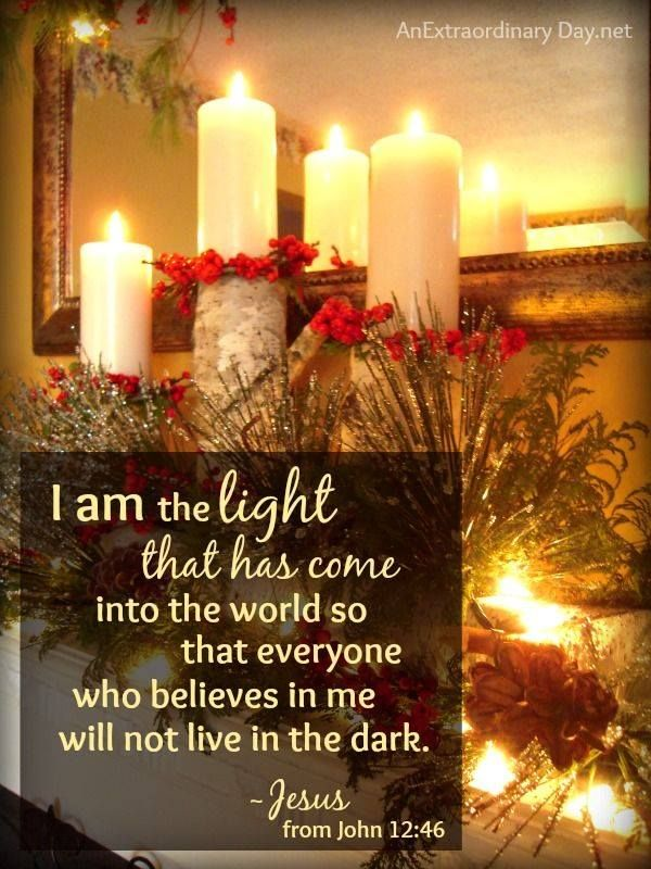 JOHN 12:46 Jesus is truly the LIGHT of the WORLD. His light is in ...