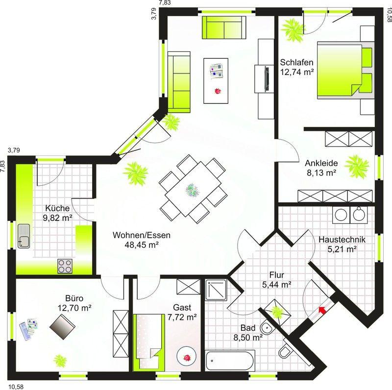 bungalow 117 grundriss bauen in 2018 pinterest grundriss bungalow bungalow und haus. Black Bedroom Furniture Sets. Home Design Ideas
