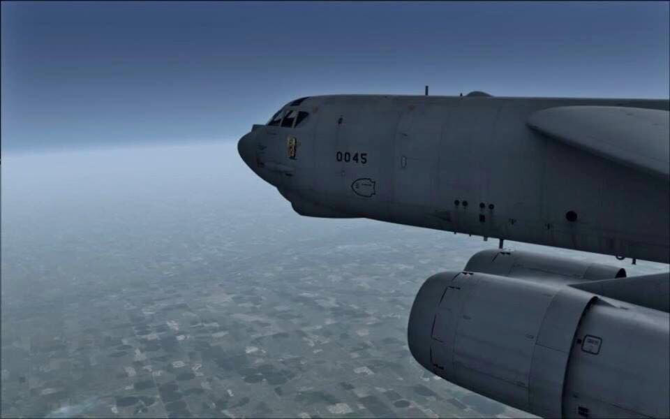 B-52H at high altitude - Beautiful!