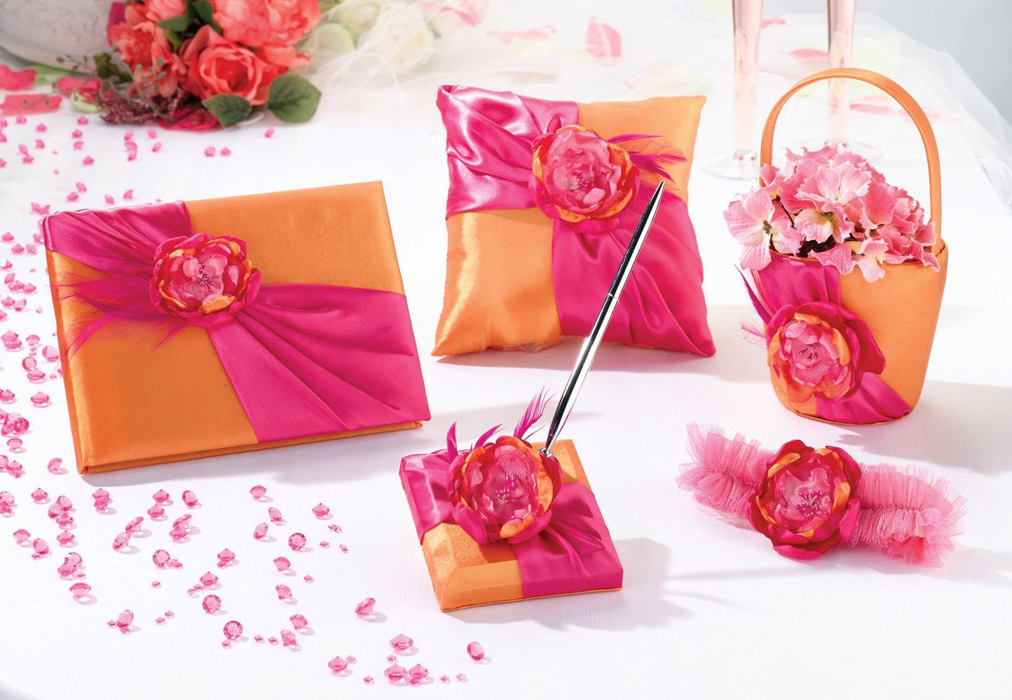 Prepack Hot Pink & Orange Collection | Hot pink, Pen sets and Flower ...