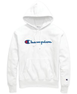 49572c1e3f7a Champion Men's Script-Logo Fleece Hoodie - White 2XL   Products in ...