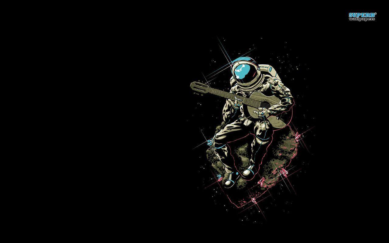 Guitarist Astronaut Wallpaper Funny Wallpapers