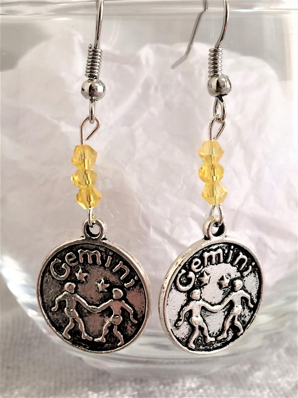 Zodiac earring gemini earring astrology jewelry zodiac jewelry