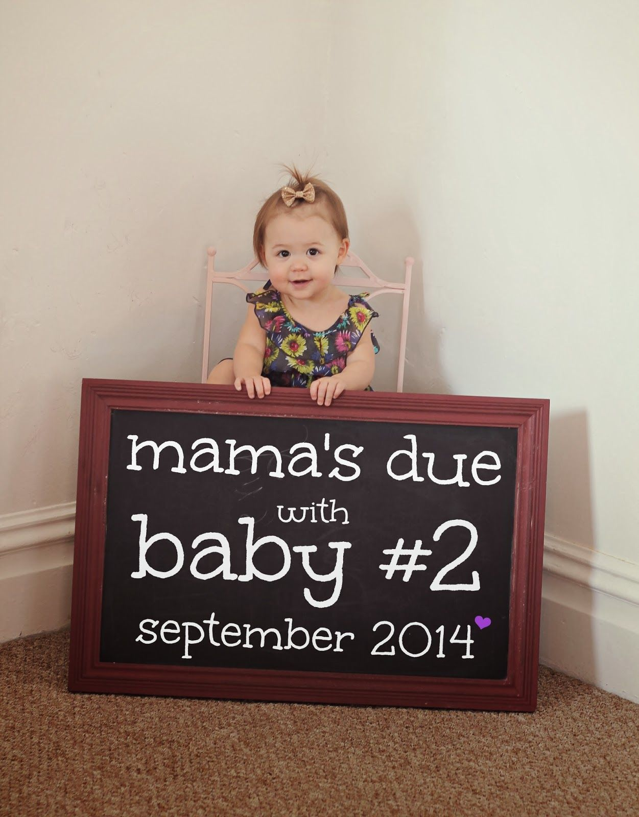 Pin on Pregnancy Announcements |Second Baby Announcement