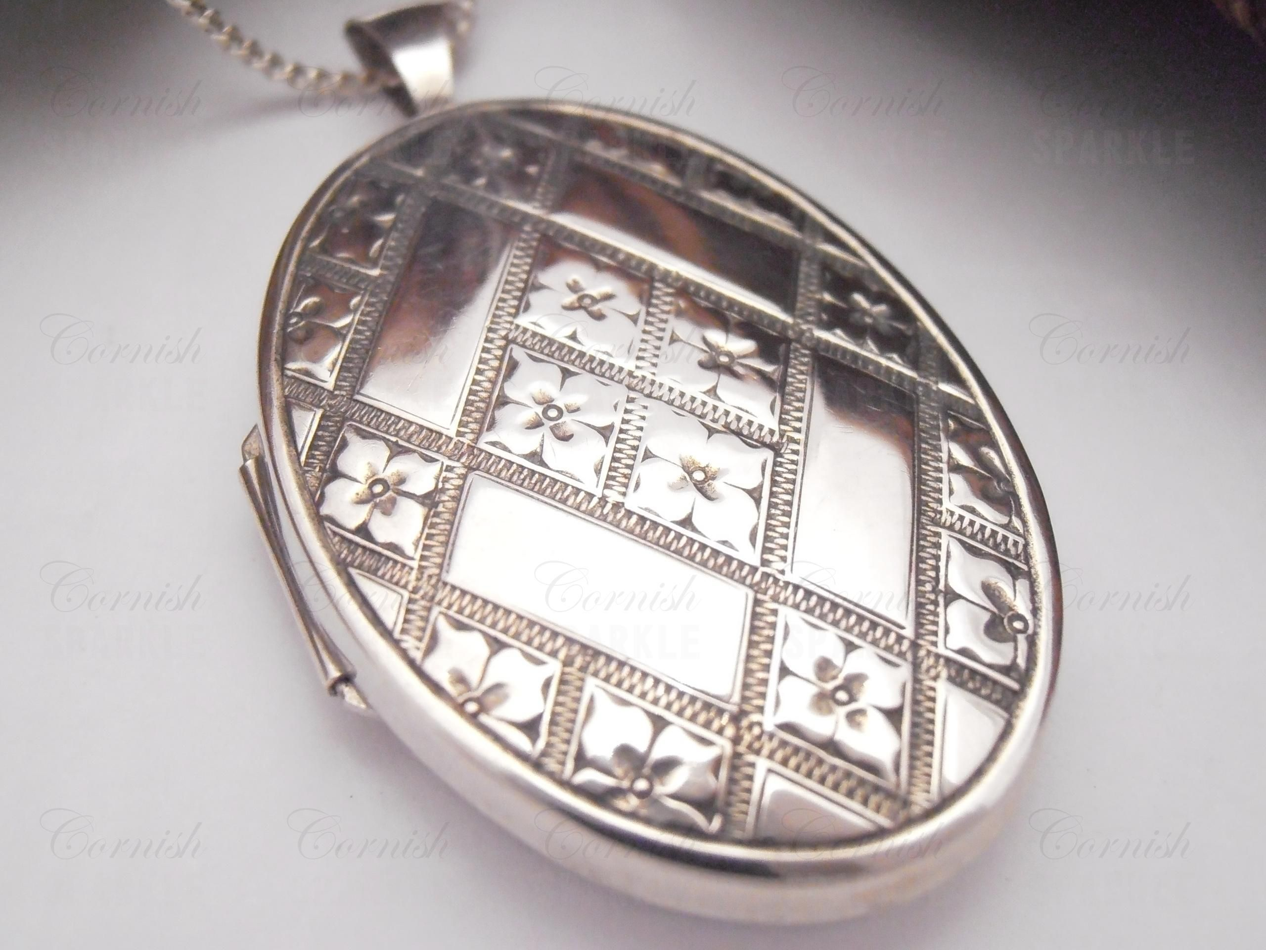 silver large papier charm necklace products locket studio silhouette lockets sterling classic le