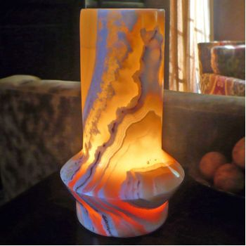 Egyptian Alabaster Ottoman Lamp | For the Home | Pinterest | Ottomans