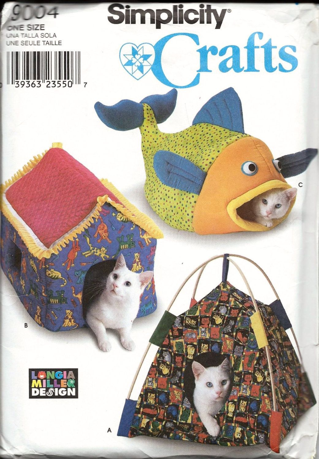 Simplicity 9004 cat bed sewing pattern fish tent house homes for simplicity 9004 cat bed sewing pattern fish tent house homes for cats uncut ff by vintagepatternstore jeuxipadfo Gallery