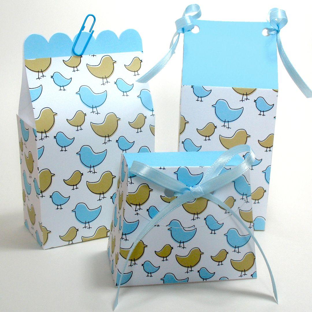 Paper Favour Bags - Little Birdies | First Birthday | Pinterest ...