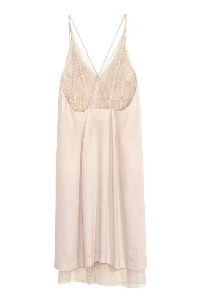 H&m lace dress white  Abito con pizzo  Lace trim and Shoulder