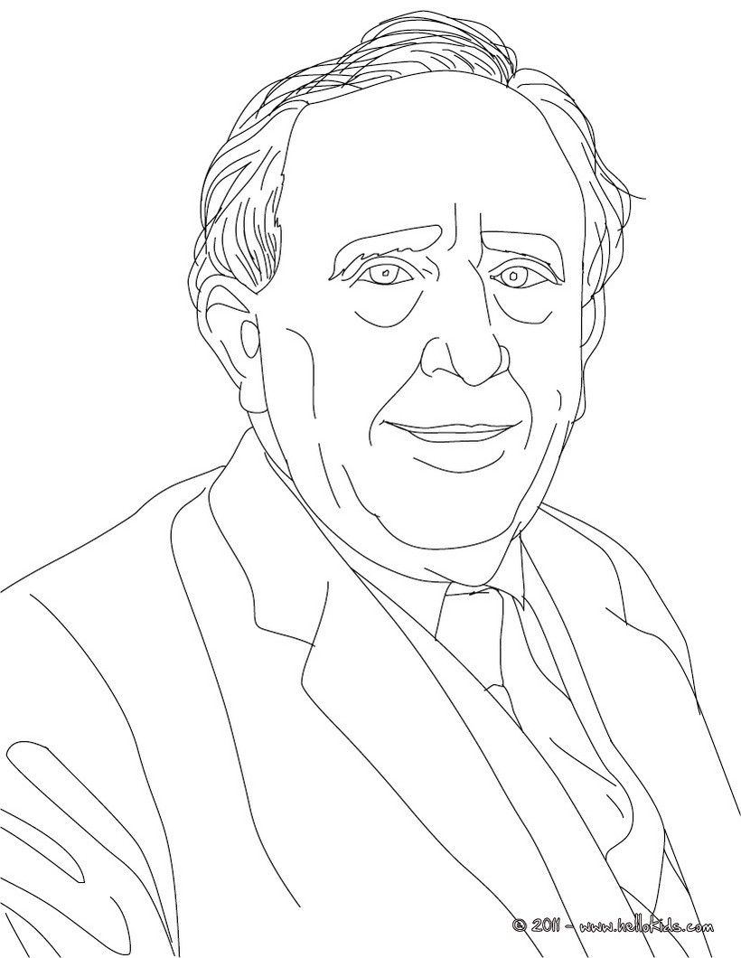 J.R.R. TOLKIEN coloring page | History coloring sheets | Pinterest