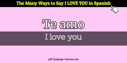 How to say i love you in spanish audio
