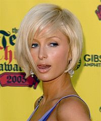 Paris Hilton Hairstyle: Casual Short Straight Hairstyle Images