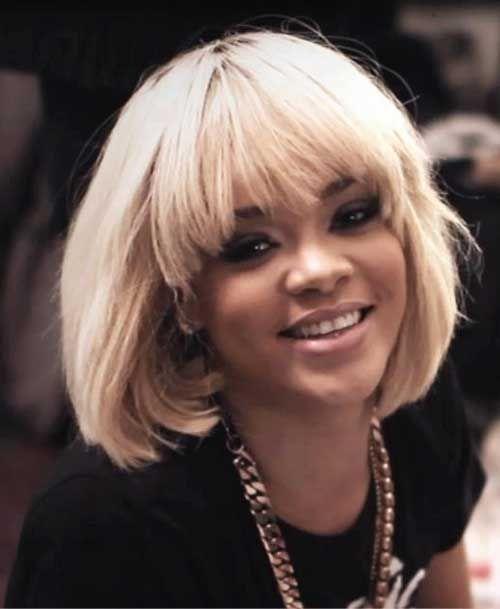 New Rihanna Blonde Short Hair Blonde Bob Hairstyles Rihanna