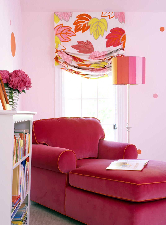 Pinks Oranges Yellows Velvet Chaise Home Decor