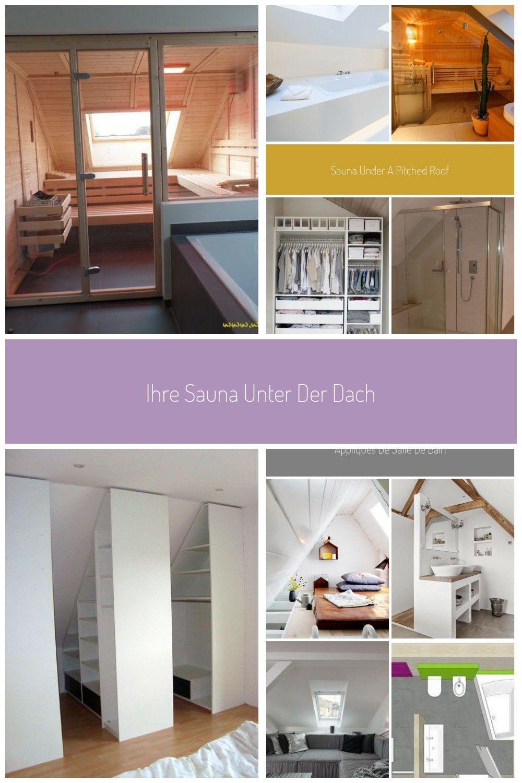 Ihre Sauna Unter Der Dachschrge Wir Konzipieren Ihre Sauna Individuell In Badezimmer Badezimmer Dach