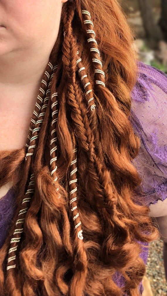 Loc Jewelry, Dreadlock Jewelry  FairyTails , Dreadlock beads, Custom wire hair cuffs, Dread Beads, Great for Braids is part of Viking hair, Hair cuffs, Hair jewelry wedding, Hair beads, Viking braids, Hair - NeverEndingShop I happily accept custom orders! Let me know any preferences you have and I will cook up something special just for you  Also, if you tell me your budget, I will work with you!  Interested in purchasing more than 5  I offer bulk discounts! Message me so we can discuss!