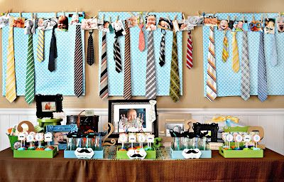 Tie & Mustache party for a little boy! Birthday? Baby shower?  So cute!  I love the take-home idea. My friend Natalie is AMAZING.