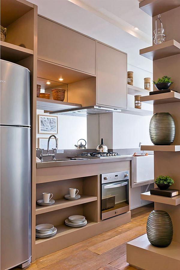 As Melhores Ideias Usando Espelho Na Decoração. Kitchen SmallStylish KitchenMini  KitchenOpen KitchenKitchen DecorKitchen ...