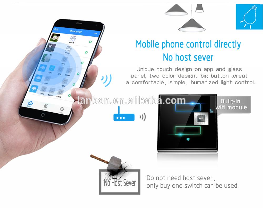 2016 Latest Smart phone control no gateway wifi universal