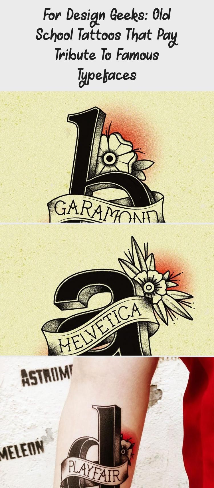 , For Design Geeks: Old School Tattoos That Pay Tribute To Famous Typefaces #oldsc… –  For Design Geeks: Old School Tattoos That Pay Tribute To Famous…, My Tattoo Blog 2020, My Tattoo Blog 2020