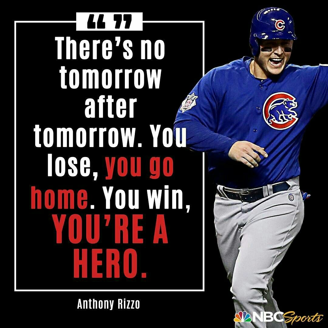 Anthony Rizzo Quote Cardinals Nation Cubs Chicago Cubs Baseball