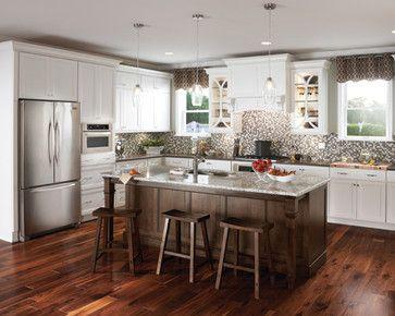 White Cabinets Dark Floor Dark Island Kitchen Remodel Kitchen