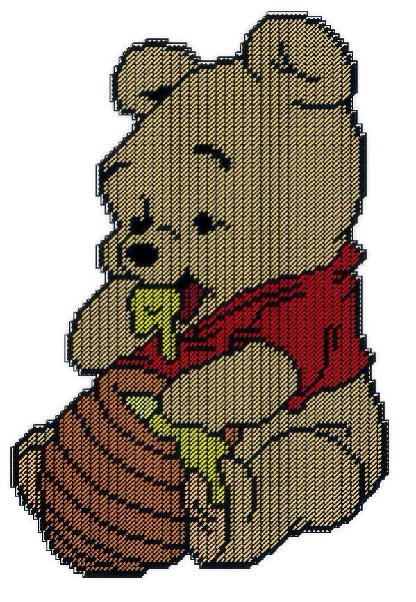 Baby Winnie The Pooh With His Honey Pot Wall Hanging