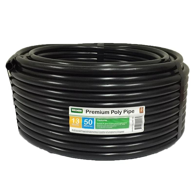 Holman 19mm x 50m Black Poly Irrigation Tube Irrigation