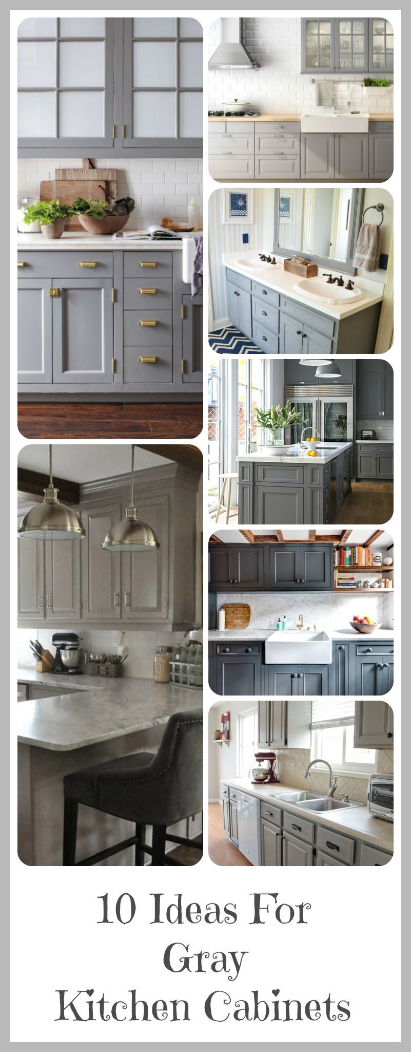 Grey Cabinets Kitchen Painted Gray Cabinets Black Counters Slate Herringbone Floor Marble Hex