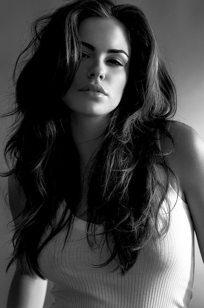 Beautiful thick brunette black and white