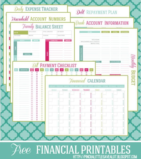 FREE Financial Printable Planner Money management, Debt - personal expense report