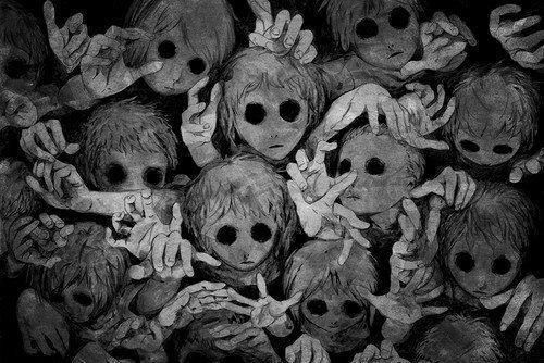 Creepy | via Facebook on We Heart It - http://weheartit.com/entry/58194047/via/porcelainbones666   Hearted from: https://www.facebook.com/photo.php?fbid=265421920261770&set=o.164005143672057&type=1&theater