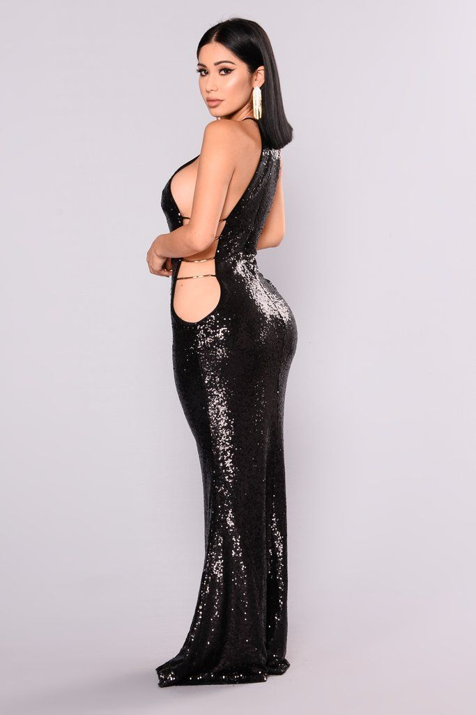 Walking On Air Sequin Dress - Black Feminino, Beleza, Vestido De Paetês  Preto, e224a3043445