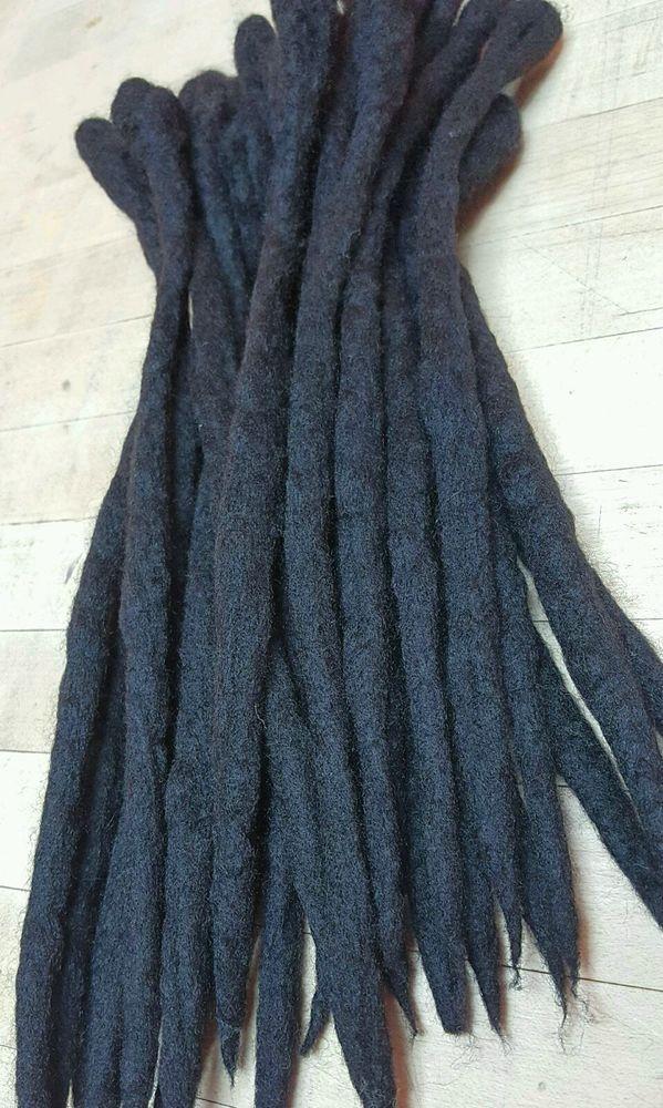 Custom Wool Dread Extensions Set Of 30 Dreadlock Wool Hair Dread