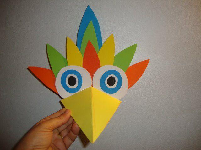 Careta Pájaro Manualidades Manualidades De Papel Para Niños Manualidades Para Niños