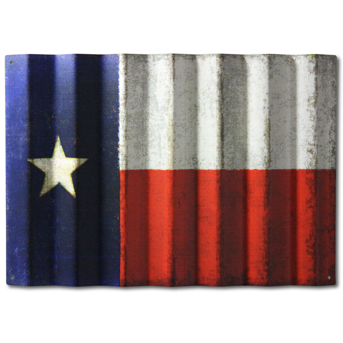 Vintage Texas Flag On Corrugated Metal Corrugated Metal Flag Art Flag