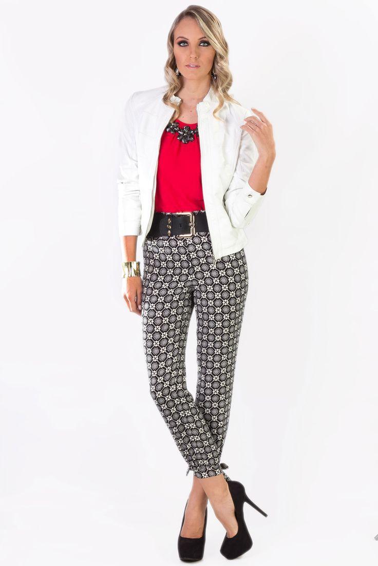 5672f19b0cf9 pantalon blanco y negro - Buscar con Google   Ropa   Pantalones ...