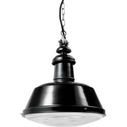 Photo of Bolich Berlin glass pendant lamp, 31.5 cm, cast aluminum suspension with nickel-plated chain, PVC cable black
