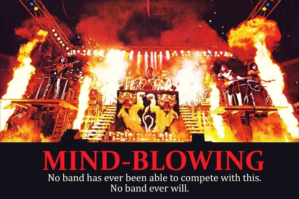 Kiss Band 24 X 36 1977 78 Mind Blowing Full Stage Shot