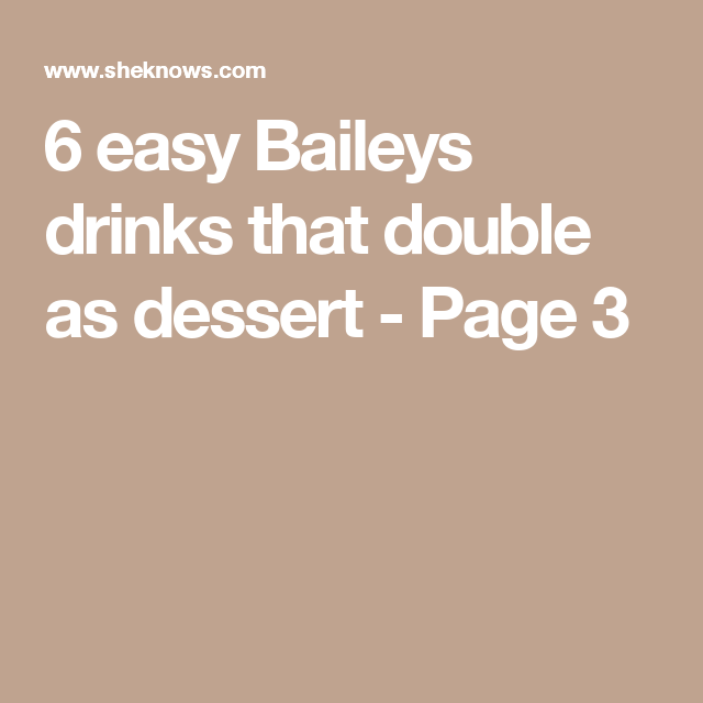 8 Creamy Baileys Cocktail Recipes That Are The Ultimate