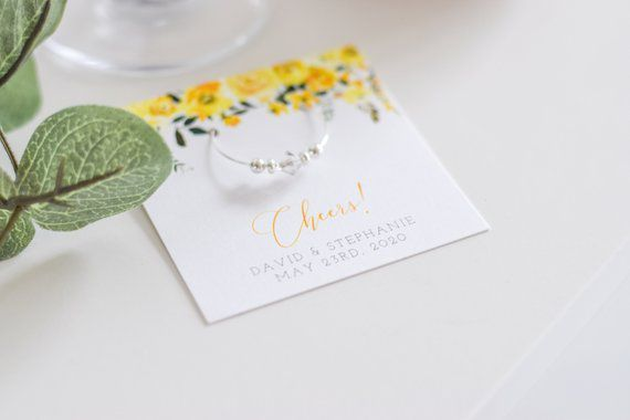 Photo of Yellow Wedding Favors For Guests, Personalized …