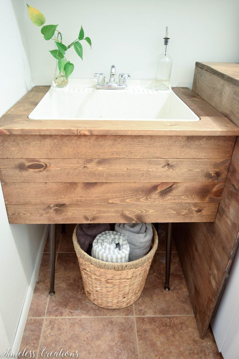 DIY Utility Sink Makeover   Timeless Creations, LLC