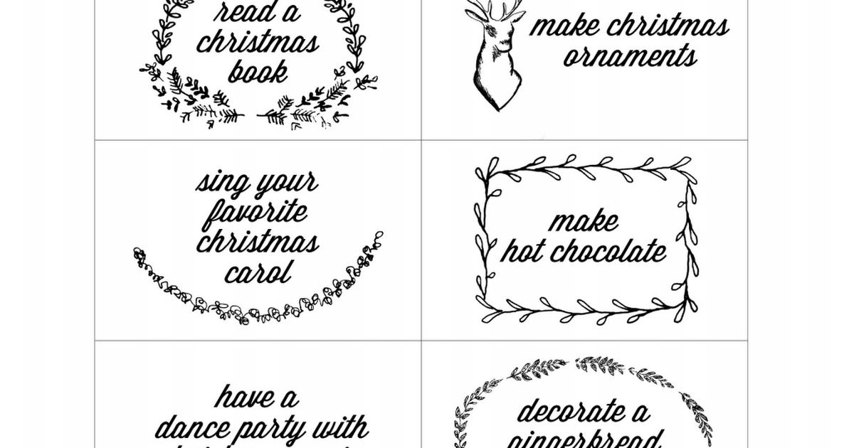 DIY Advent Calendar Activity Cards.pdf Advent calendar