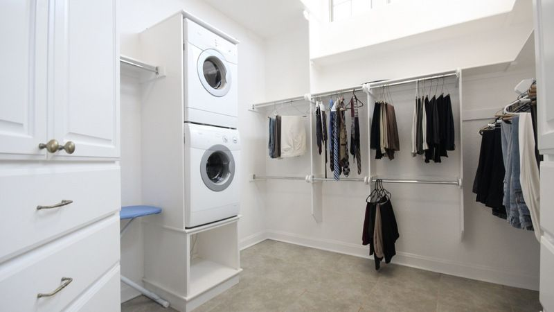 Washer Dryer In The Master Bedroom Closet Now You Don T Have To Lug Your Clothes Back And Forth Laundry Room
