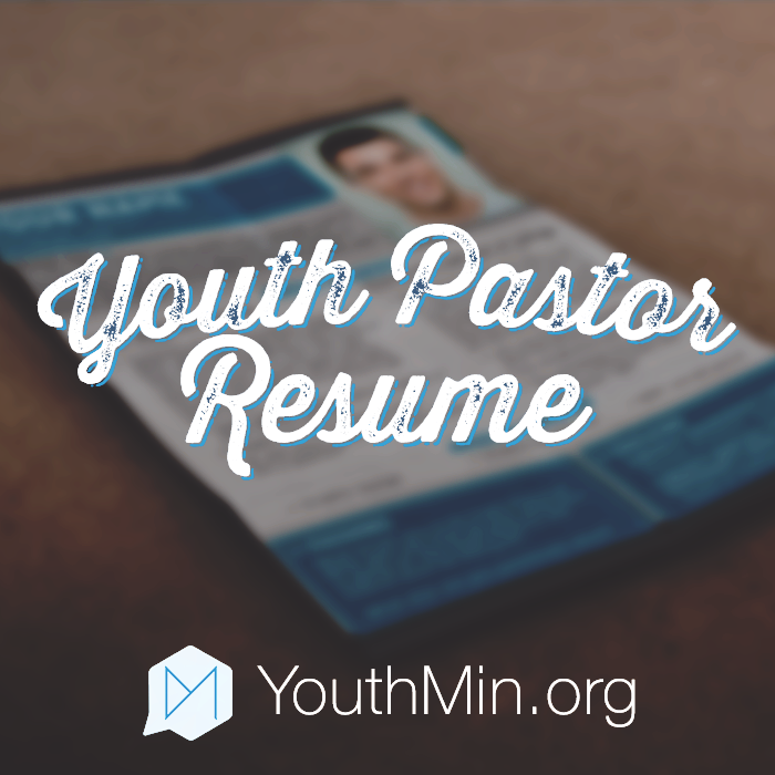 Youth Pastor Resume Template  Youth Pastor Resume