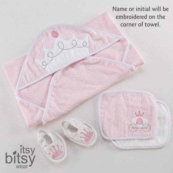 d23c6ef80ecf6 CLOSE OUT Pink Princess Bath Time Gift SET, Includes Terry Cloth ...
