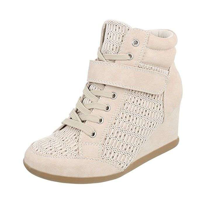 Keilstiefeletten Damenschuhe Plateau Keilabsatz/ Wedge Keilabsatz Schnürsenkel Ital-Design Stiefeletten: Amazon.de: Schuhe & Handtaschen