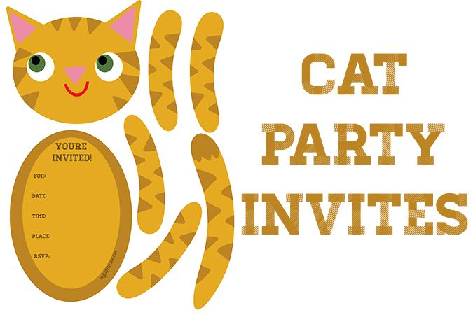 17 Best images about Cat Birthday Party – Cat Birthday Invitations