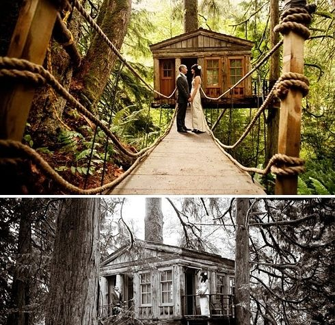 22 Of The Coolest Places To Get Married In America Places To Get Married Parisian Wedding Treehouse Point